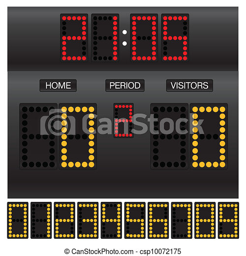 Match score board with timer - csp10072175