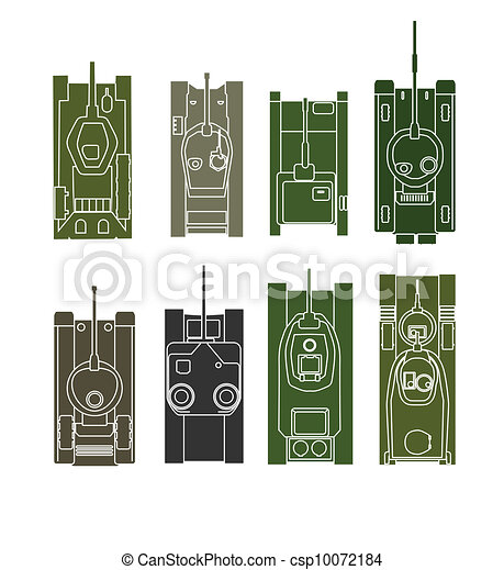 Tank vector collection - csp10072184