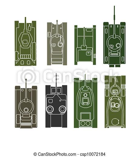 Tank vector collection - csp10072184