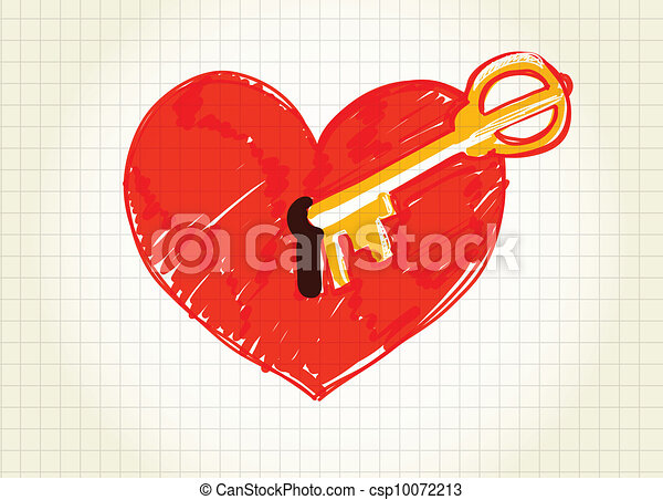 Key is opening the heart - csp10072213