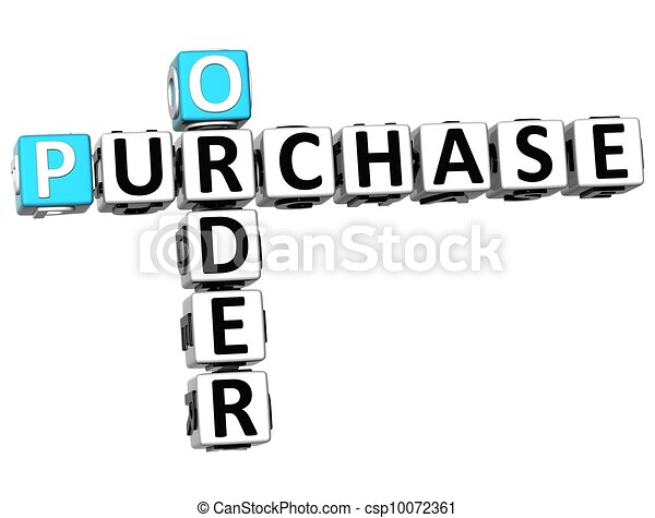 3D Order Purchase Crossword - csp10072361