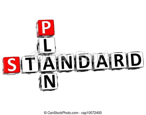 3D Standard Plan Crossword - csp10072400