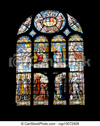 Colorful window-pane in the church - csp10072408
