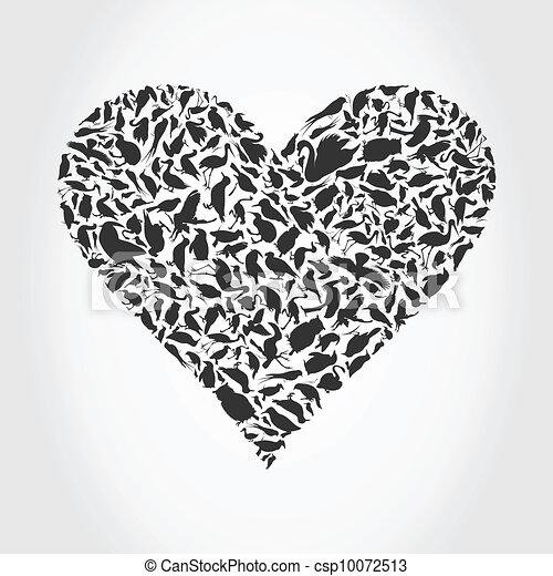 Heart a bird - csp10072513