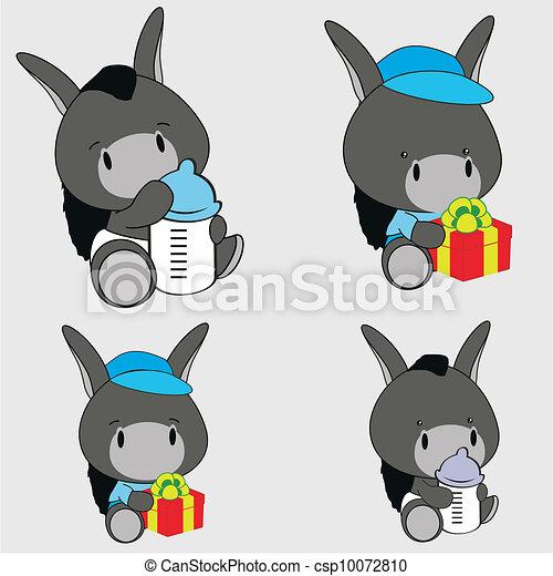 Baby Logo Vector Vector Donkey Baby Cartoon