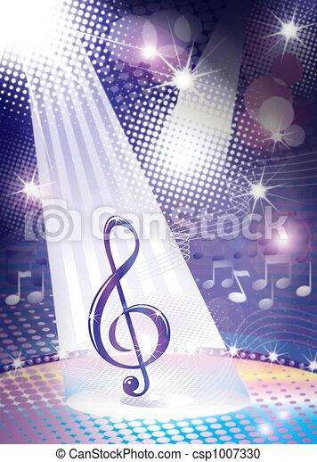 music symbol concept - csp1007330