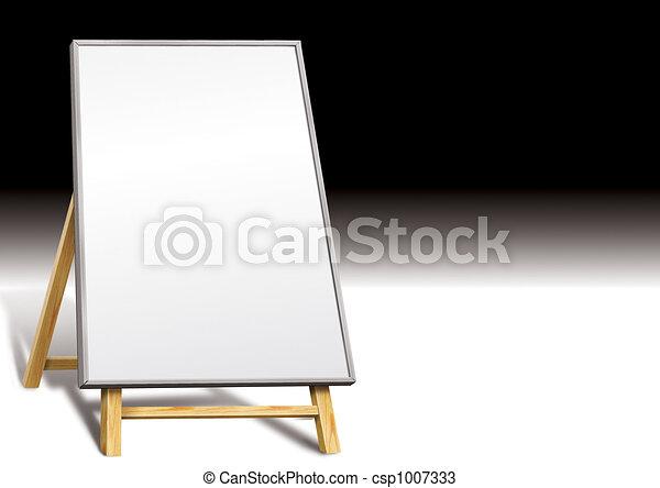 Blank notice board - csp1007333