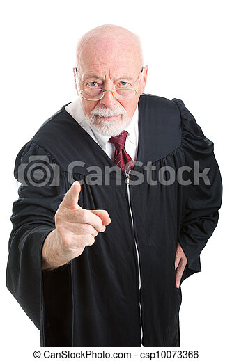 Judge - Stern and Scolding - csp10073366