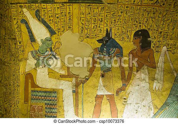 Plaatje van egypte graf oud schilderij de koning van de csp10073376 zoek naar - Associatie van kleur e geen schilderij ...