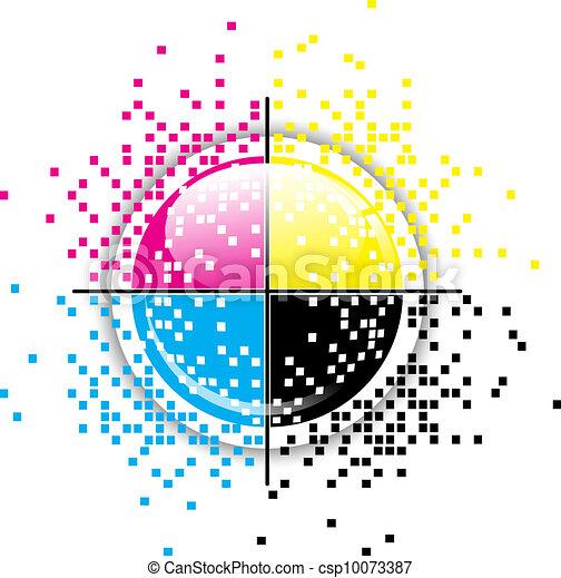 Creative CMYK design - csp10073387