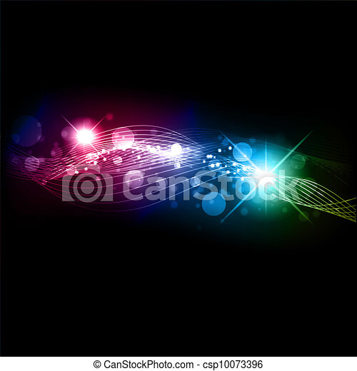 Abstract neon glowing background - csp10073396