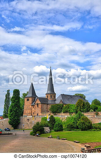Fuldaer Dom (Cathedral) in Fulda, Hessen, Germany - csp10074120