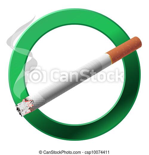 The sign smoking area. - csp10074411
