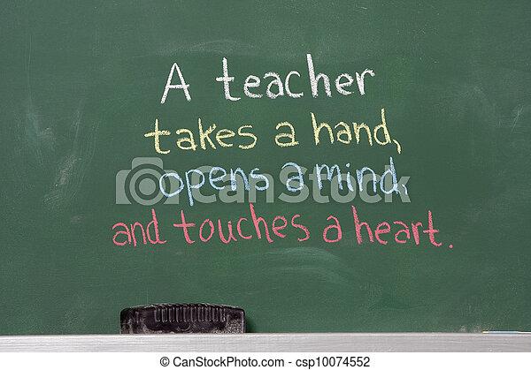 Inspirational phrase for teacher appreciation - csp10074552