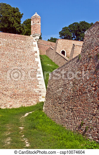 Walls and towers of  fortress  - csp10074604