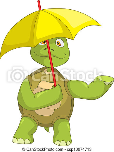 Clip art vecteur de rigolote tortue dessin anim - Image tortue rigolote ...