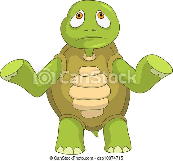 Sad Turtle. - csp10074715