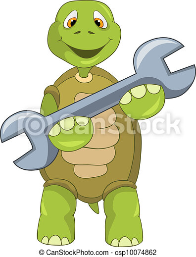 Funny Turtle. Support. - csp10074862