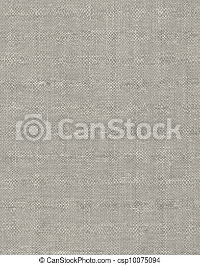 Natural vintage linen burlap textured fabric texture, detailed old grunge rustic background in tan, beige, yellowish, grey copy space - csp10075094