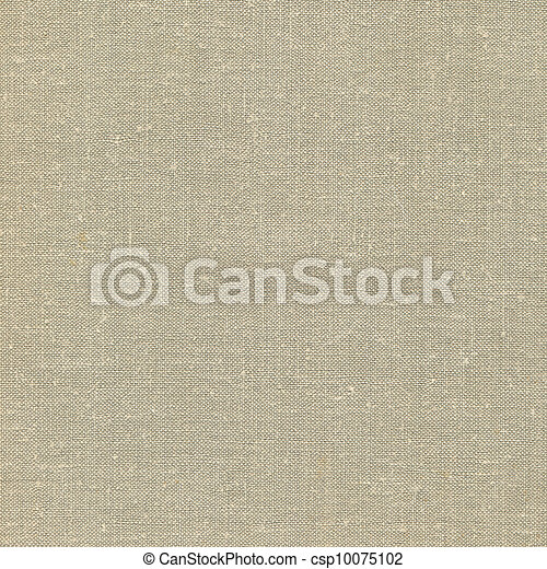 Natural vintage linen burlap textured fabric texture, detailed old grunge rustic background in tan, beige, yellowish, grey copy space - csp10075102