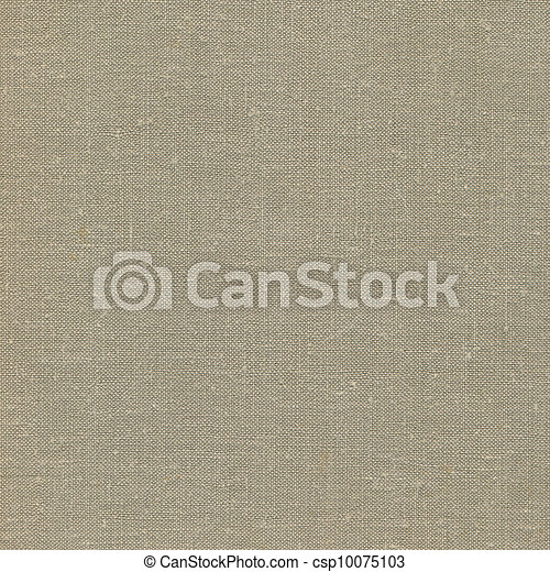 Natural vintage linen burlap textured fabric texture, detailed old grunge rustic background in tan, beige, yellowish, grey copy space - csp10075103