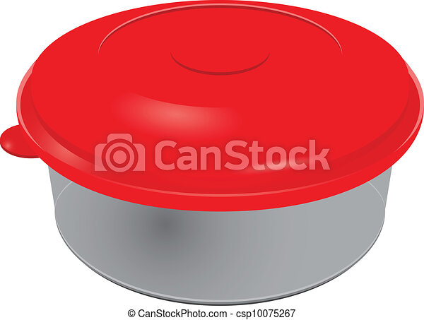 Vector Clip Art of Plastic containers for dairy products and jams ...