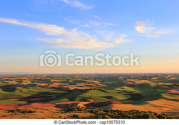 Beautiful Hills of Palouse - csp10075310