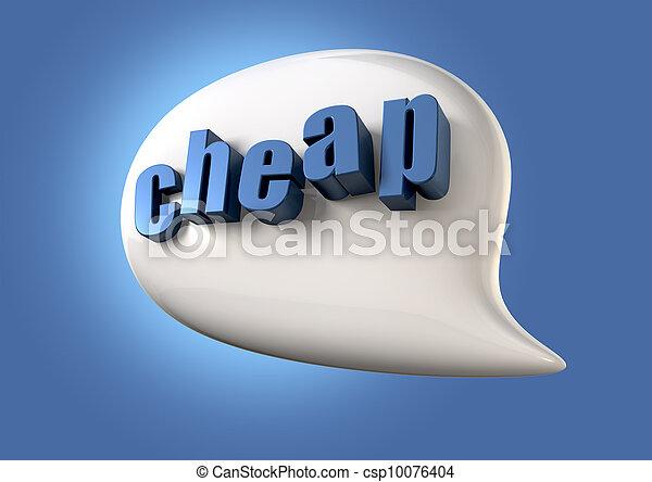 Talk Is Cheap - csp10076404