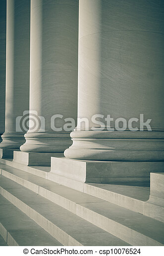 Pillars of Law and Education - csp10076524