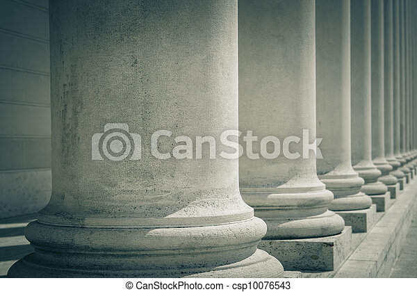 Pillars of Law and Justice - csp10076543