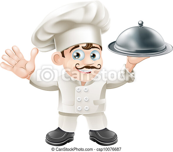 French Chef Drawing French Chef Csp10076687
