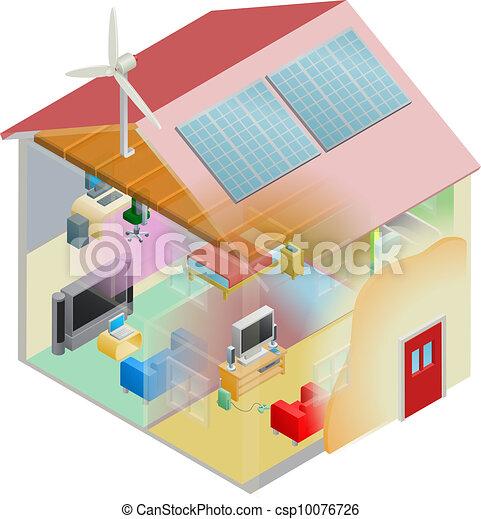 Green Energy House - csp10076726