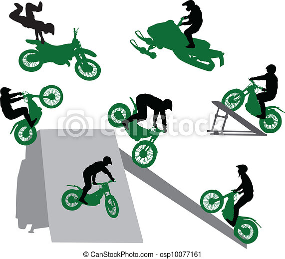 Stunt show on a motorcycle. - csp10077161