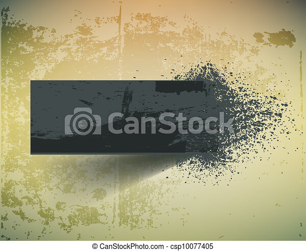Dark grunge ink splash banner. - csp10077405