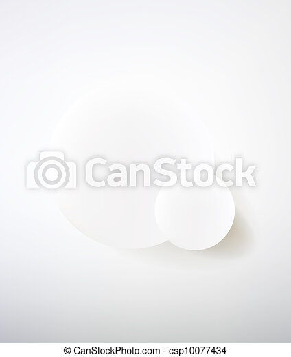 Abstract minimalist design in a light tone. Two circle. - csp10077434