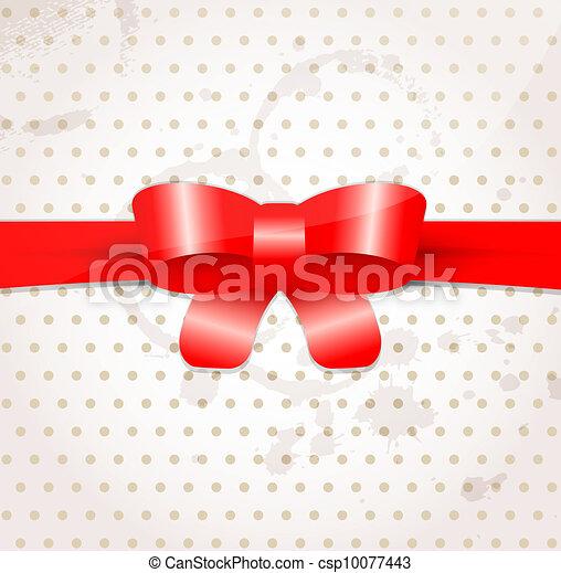 Celebratory background with bow - csp10077443