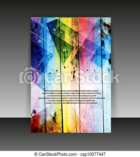Flyer or cover design. Folder design content background. editable vector illustration - csp10077447