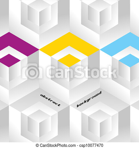 Abstract geometric background with isometric cubes. Book cover - csp10077470