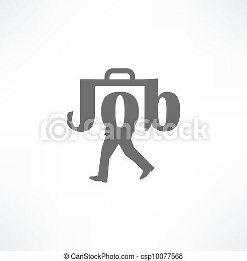 Jobs. Conceptual illustration. - csp10077568