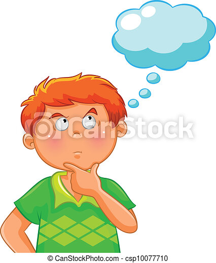 thinking boy - csp10077710