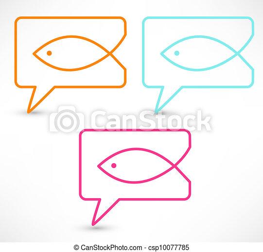 Christian religion symbol fish - csp10077785