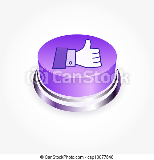 Social media concept.  Like button in perspective. Thumb Up - csp10077846