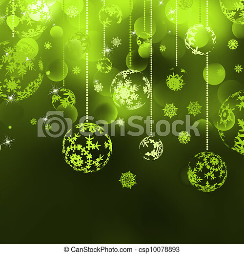 Christmas background with baubles. EPS 8 - csp10078893