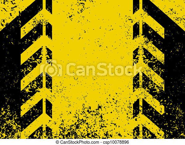 A grungy and worn hazard stripes texture. EPS 8 - csp10078896