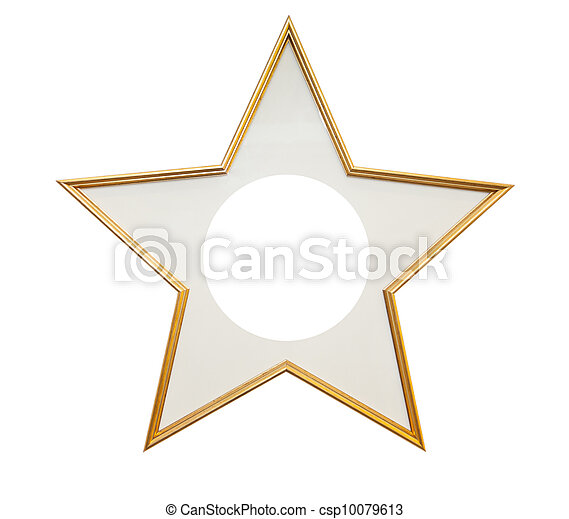 Wooden frame in star shape  - csp10079613
