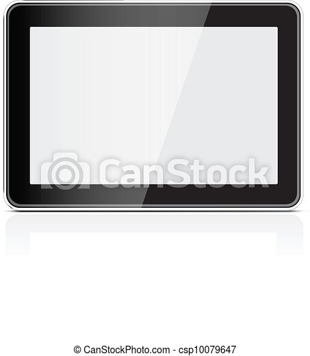 Black generic tablet pc - csp10079647