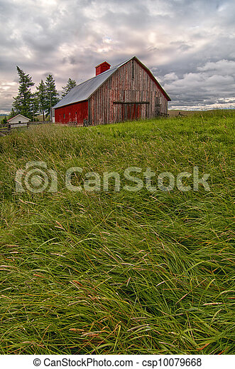 Red Barn on the Palouse - csp10079668