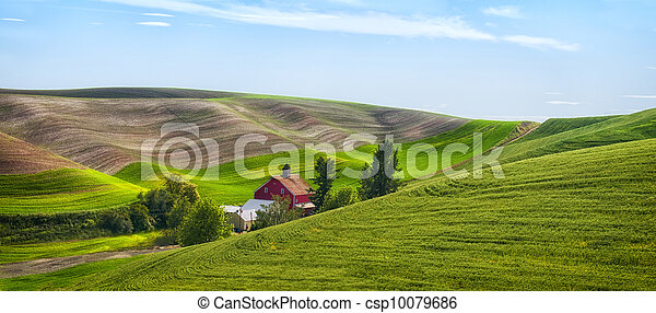 Red Barn in the Palouse - csp10079686