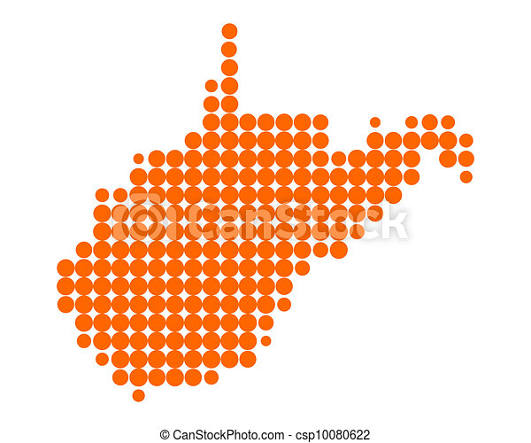 Map of West Virginia - csp10080622