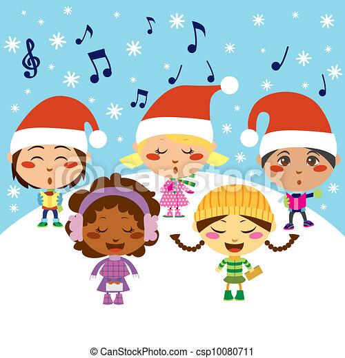 Christmas Carol Children - csp10080711